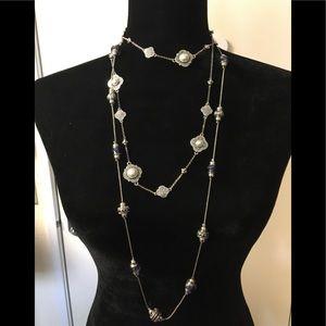 NWT scroll & vine silver necklace bundle
